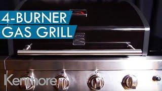 Kenmore 4-Burner Gas Grill w/ Open Storage