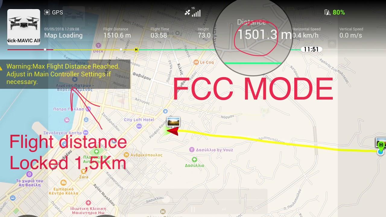 DJI MAVIC Air fcc mode