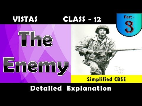 The Enemy | Part - 3 | Vistas  Chapter - 4 | Detailed Line By Line Explanation In Hindi