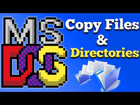 How To Easily Copy Files And Directories In DOS
