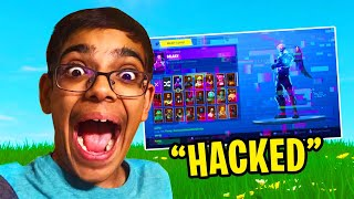MY CRAZY COUSIN HACKED MY FORTNITE ACCOUNT! ALL MY V-BUCKS GONE! (RAGE)