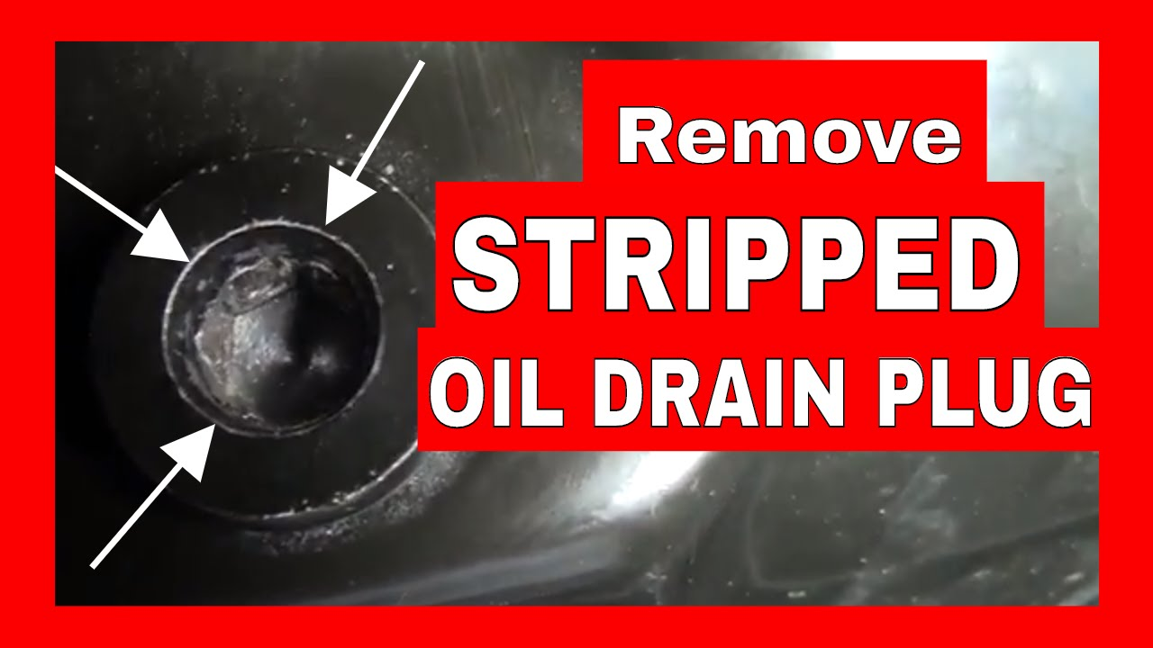 How To Remove a Stripped or Rounded Vehicle Oil Drain Plug -- Allen Key or  Hex