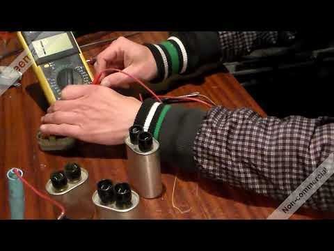 Как разрядить конденсатор в микроволновке