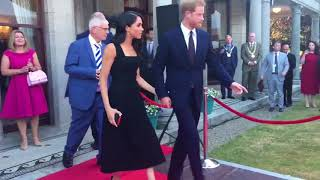 The Duke & Duchess of Sussex ARRIVE in DUBLIN for their first official visit to IRELAND 2018