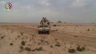 شاهد لحظة الجيش المصري يدمر أكبر تجمع للإرهابيين جنوب الشيخ زويد بسيناء