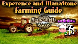 F2PG Summoners War - Mana Stone and Experience Farming Guide How to get fast six star monsters!