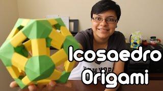Origami Icosahedron / Icosaedro De Origami ¡TUTORIAL!