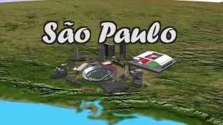 Sehenswürdigkeiten: Lateinamerika, mittlerer Osten, Afrika, inklusive aller WM Stadien Brasiliens