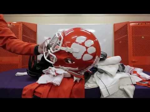 How much gear in a year a Clemson football player receives
