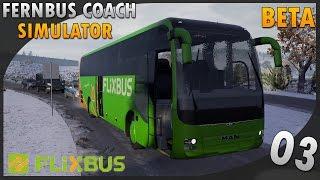Fernbus Coach Simulator | Test BETA #3 Neige et aube !
