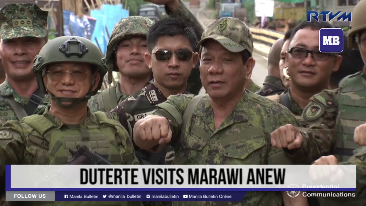 Duterte visits Marawi anew