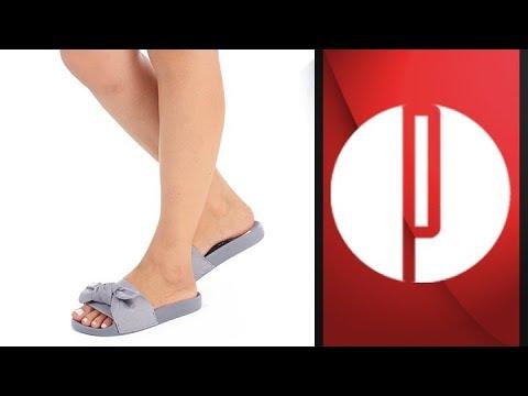 41675dbfd Chinelo Slide Feminino Moleca - 6000620402 - YouTube