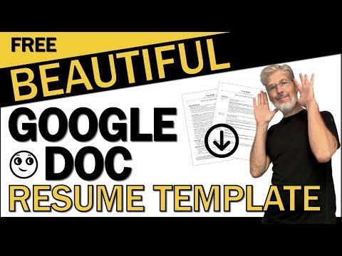 Beautiful Google Doc Resume Template | Swipe My Quick Start Resume