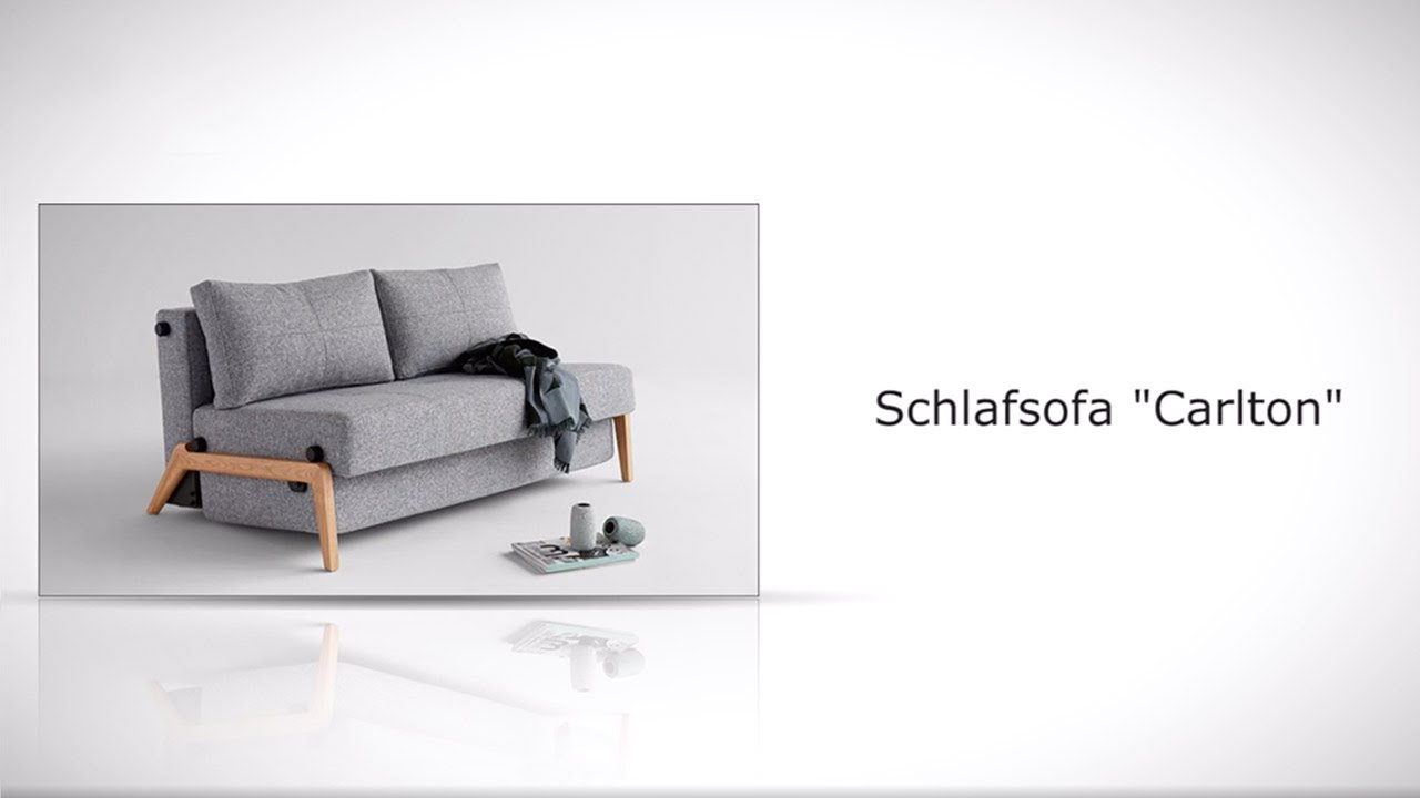 ausklappbare schlafcouch mit massiven eichenf en carlton. Black Bedroom Furniture Sets. Home Design Ideas