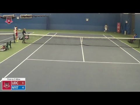 ECC Men's Tennis Championship Semifinal - UDC vs. NYIT