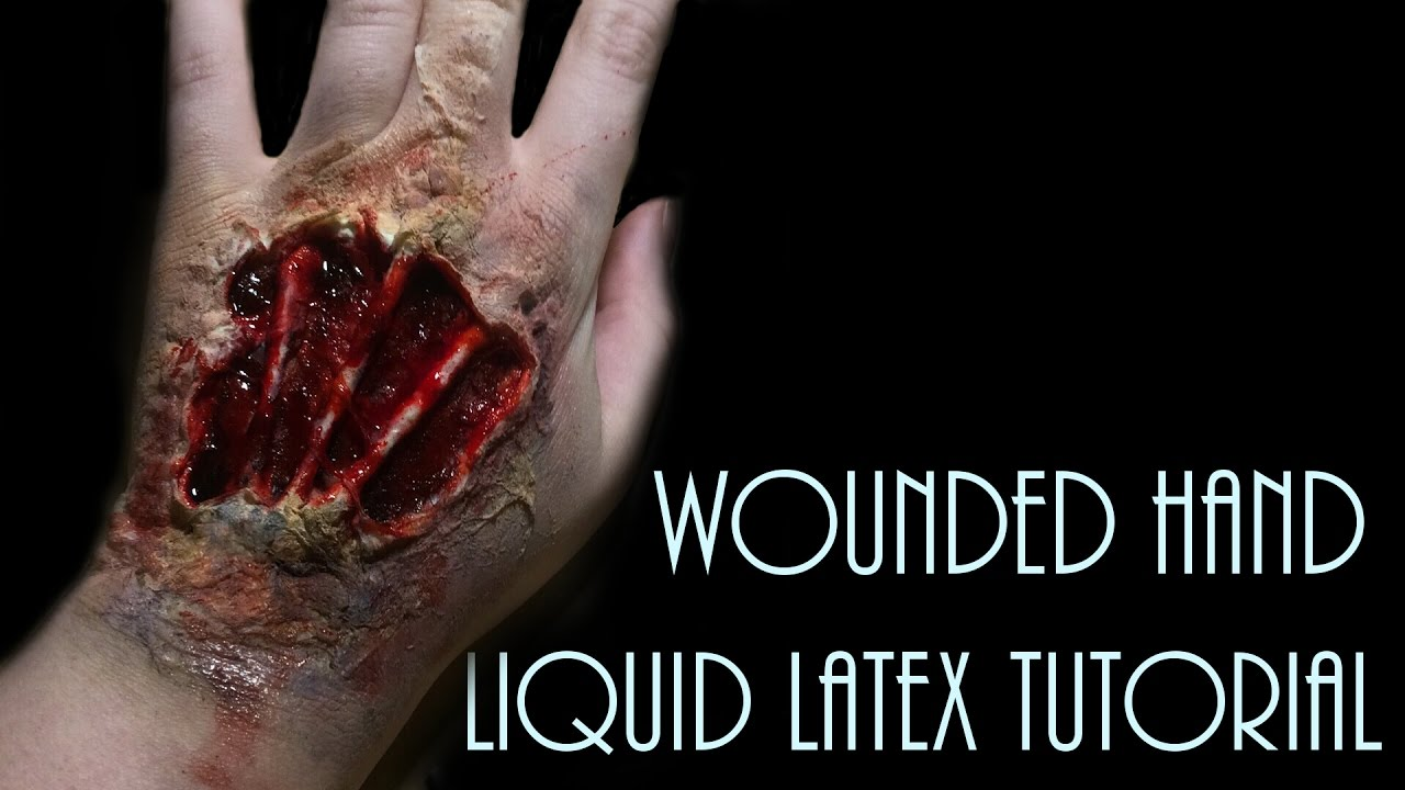 Wounded hand liquid latex tutorial youtube wounded hand liquid latex tutorial baditri Choice Image