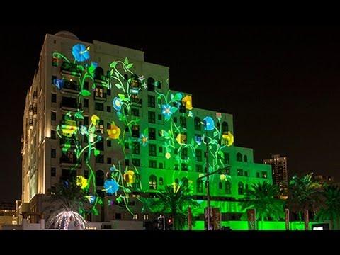 Vegetalization : Dubai Festival of Lights