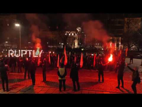 Bulgaria: Nationalists march in Sofia to honour far-right WWII General