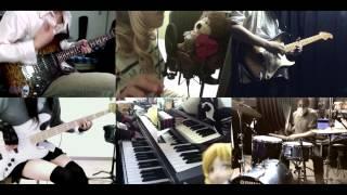 [HD]Sengoku Collection ED [UNLUCKY GIRL!!] Band cover