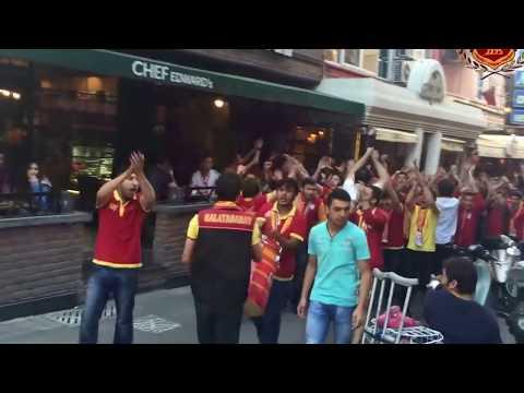 ultraslan isparta  bjk maçı öncesi kafeler caddesine giriş