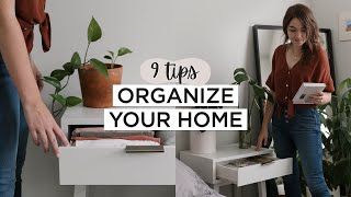 Minimalist Home ORGANIZATION Tips | 9 Habits For A Clean + Organized Home