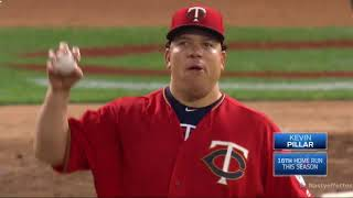 "Bartolo Colón's Mega Flyout Celebration (or ""Big Sexy Night"" in Minnesota)"