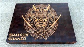 Hattori Hanzo cutting board #1 / butcher block. Cnc inlay. Wood inlay 4k video.