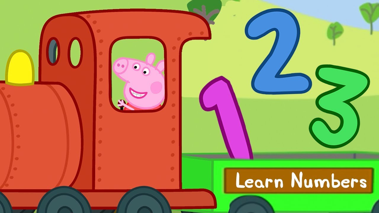 Peppa Pig Learn Numbers With Trains Peppa Pig The Train Driver Learning With Peppa Pig Youtube