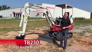 Video still for Takeuchi TB230 Angle Blade