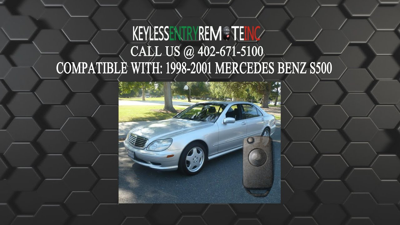 hight resolution of how to replace mercedes benz s500 key fob battery 1998 1999 2000 2001