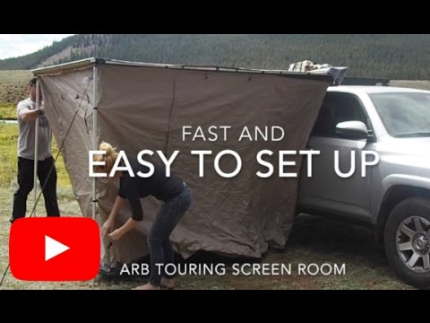 Arb Touring Awning Room Set Up Demo Youtube