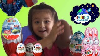GIANT KINDER EASTER 2017 SURPRISE EGGS OPENING! Opening New Giant Kinder Eggs Maxi Surprise Toys
