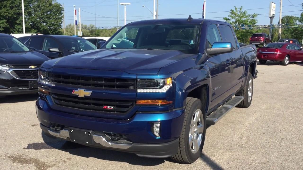 2018 Chevrolet Silverado 1500 Lt Z71 Deep Ocean Blue Metallic Roy Nichols Motors Courtice On