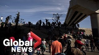 Migrant caravan reaches bridge near U.S. border