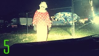 5 Disturbing Clown Sightings Caught on Camera