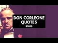Don Vito Corleone - The Godfather Quotes - Sitatio