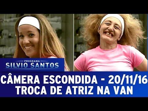 Câmera Escondida (21/11/16) - Troca de atriz na van