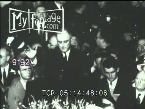 Stock Footage - 1936 DEMOCRATIC CONVENTION: FRANKLIN D. ROOSEVELT IS NOMINATED FOR PRESIDENT
