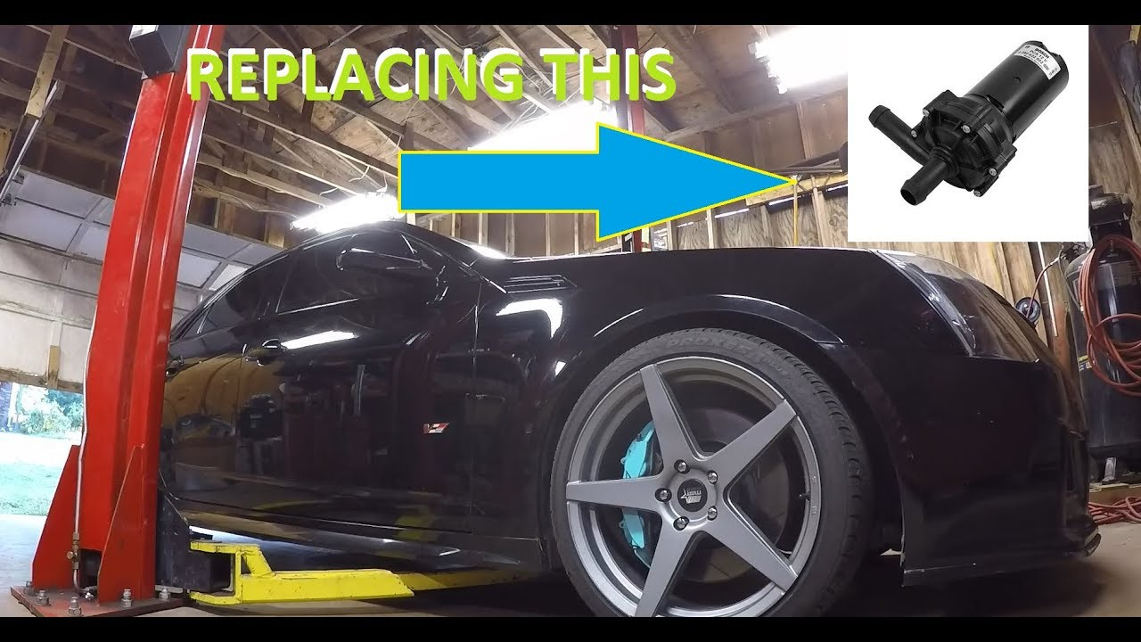 Replacing the intercooler pump on a cts-v How to bleed and flow video!