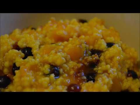 Рецепт Нежная тыквенно-пшенная каша с ягодами/Tender pumpkin-millet porridge with berries