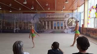 Спортивная акробатика. Новосибирск. Программа 1 взрослого разряда. Комбинированное. Софья и Арина.