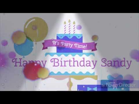 Happy birthday Sandhya special birthday party song