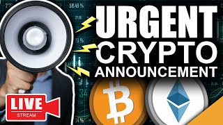 URGENT!!! Bitcoin & Ethereum Announcement (Coinbase Listing NOW!!!!)
