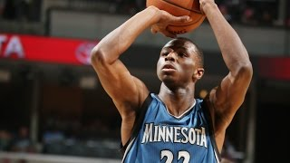 Andrew Wiggins Drains the Three for His First NBA Basket