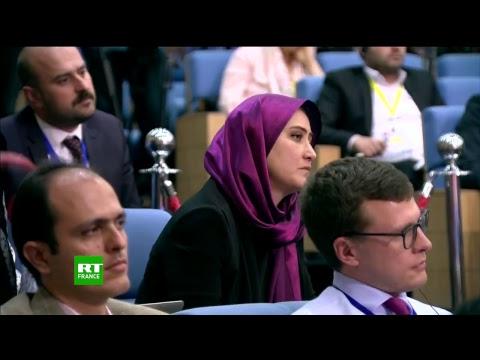 Conférence de presse de Poutine, Rohani et Erdogan à l'issue de leur rencontre trilatérale à Téhéran
