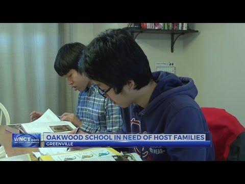 The Oakwood School in Greenville is looking for host families
