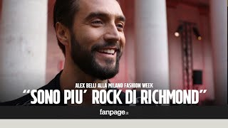 Alex Belli da Milano Fashion Week: