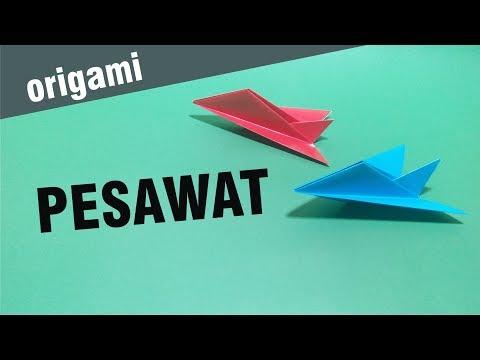 Cara Membuat Origami PESAWAT sangat mudah