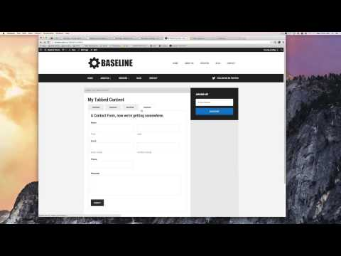 Tabbed Content Page Template In Genesis