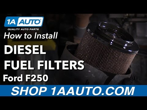 How to Install Fuel Filter 11-16 Ford F250 Diesel